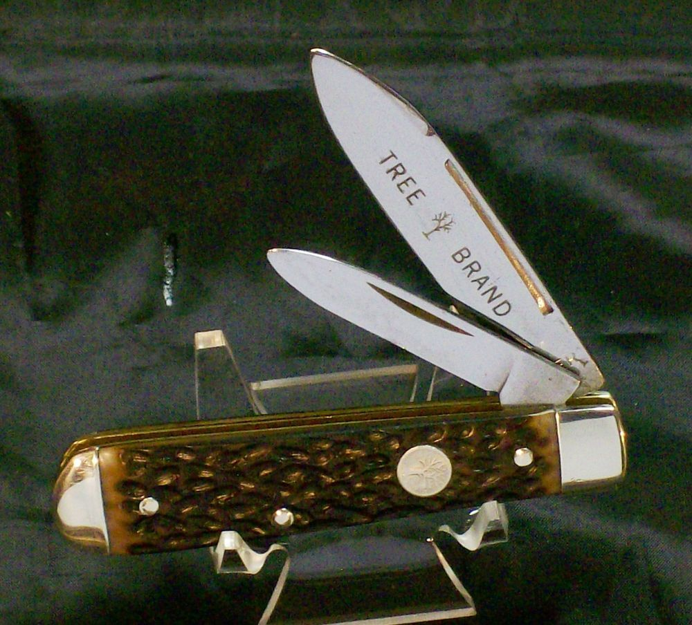 Boker 9695 Tree Brand Knife C 1950 S Jigged Delrin Solid