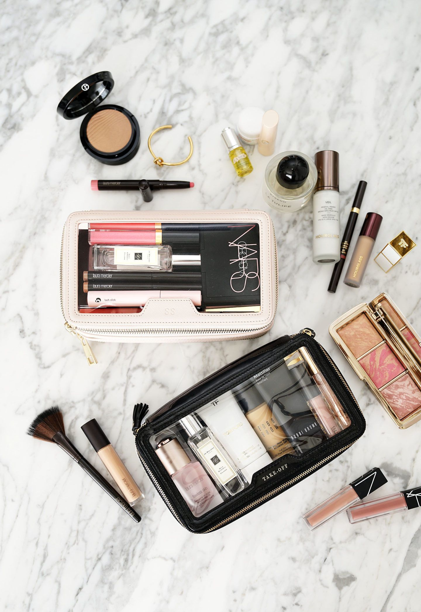 d15c4abddea9 The Daily Edited Transparent Cosmetic Case vs Anya Hindmarch Inflight  Travel Case | The Beauty Look Book
