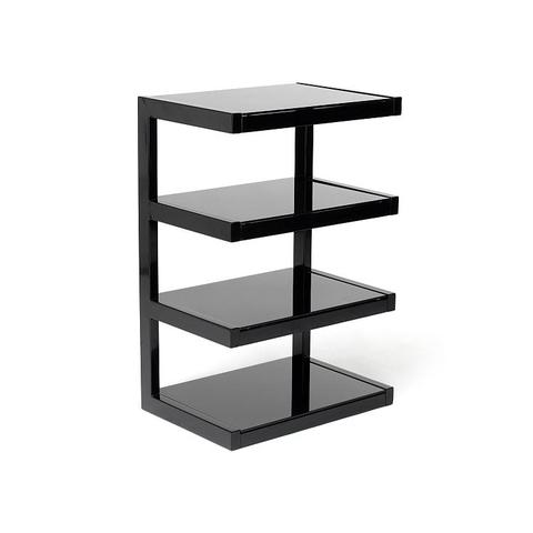 Norstone Esse Hi Fi Rack Black Hifi Stand Shelves Hifi Furniture