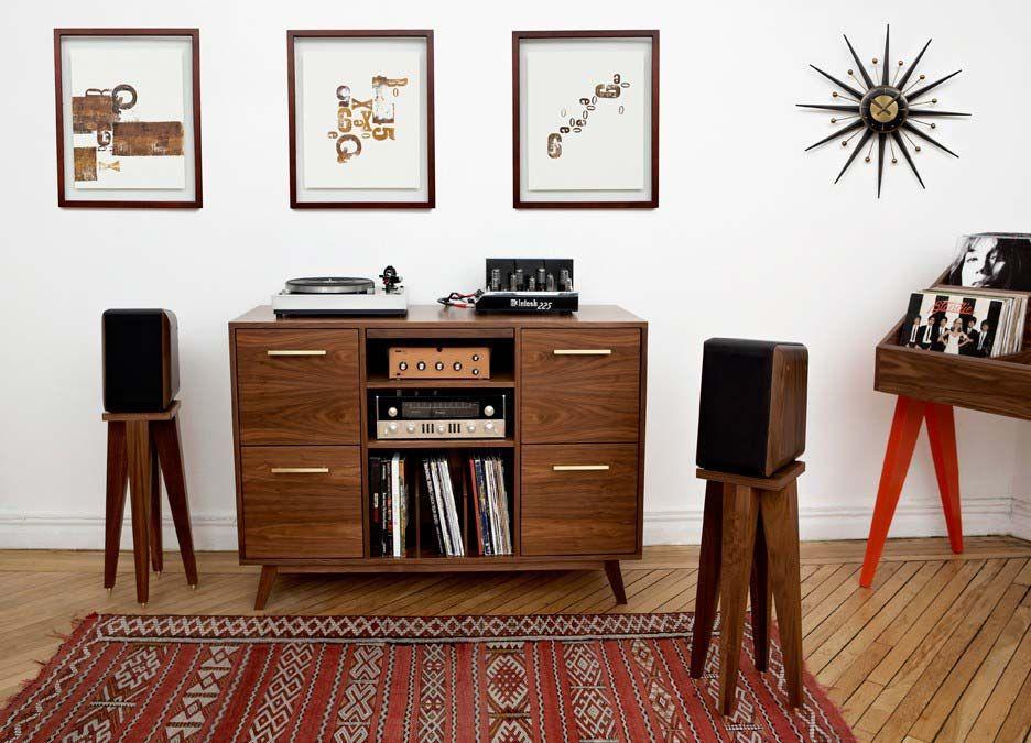 46 Meubles Pour Ranger Des Vinyles Meuble Hifi Meuble Vinyle Mobilier De Salon