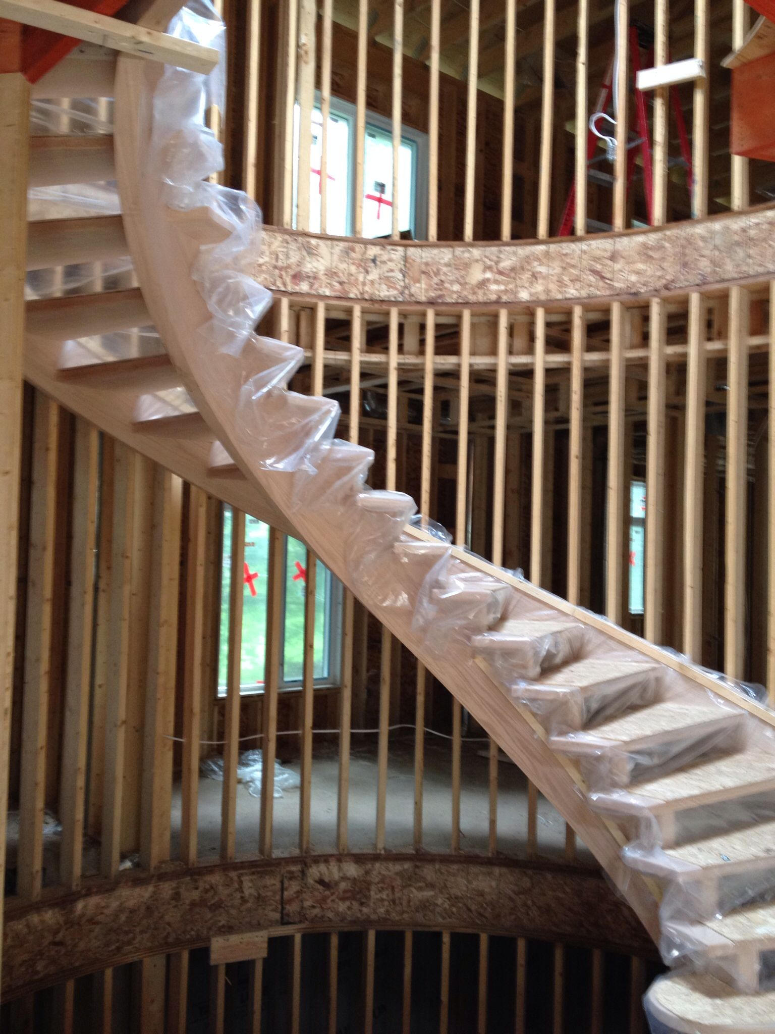 Best Extra Wide Open Rise 180 Degrees Curved Stairs 400 x 300