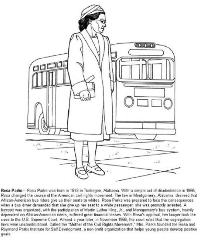 Rosa Parks Day coloring pages holiday | coloring Pages | Pinterest