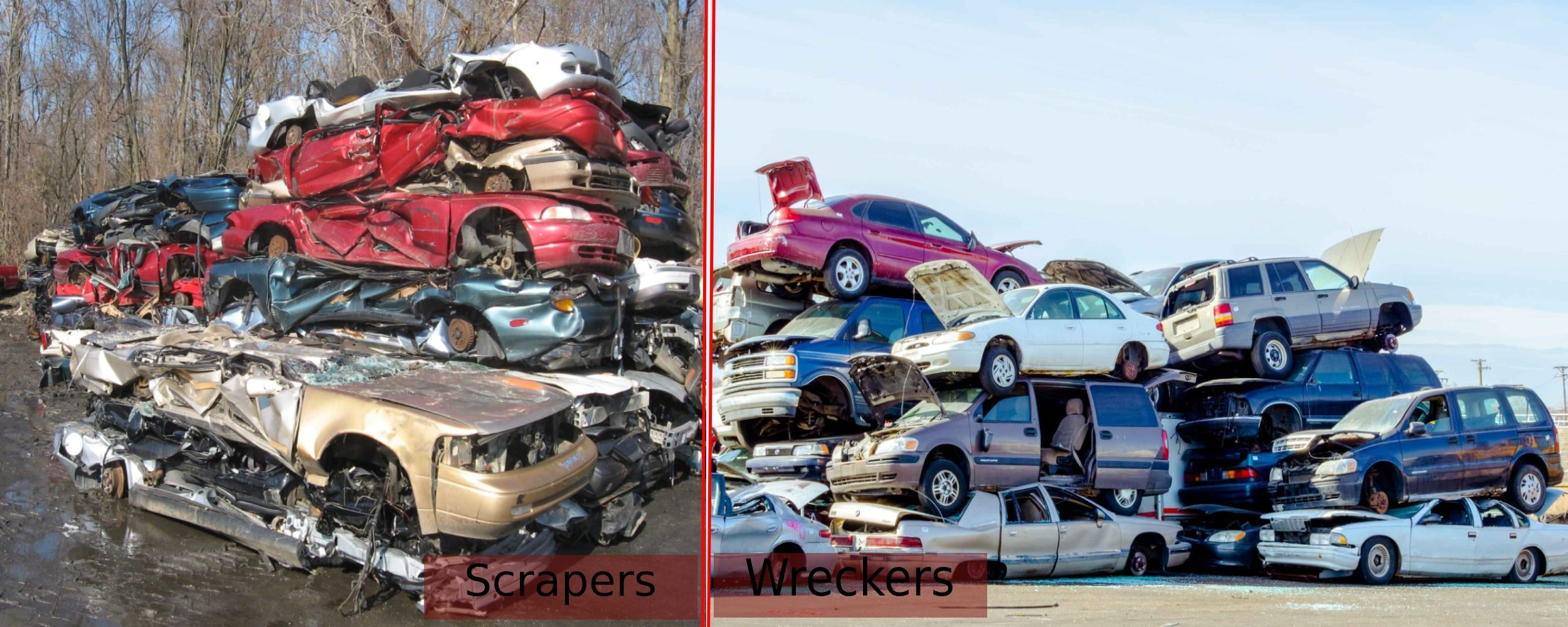 What's the Basic Difference Between Scrapers and Wreckers