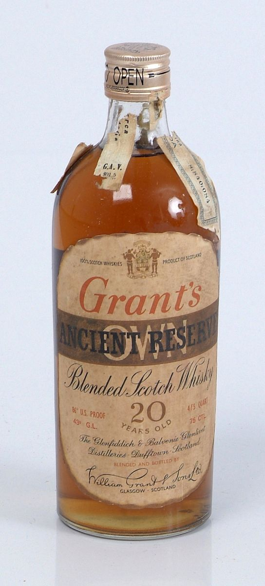 Alte Schnapsflaschen Grant's Old Bottle(approx. 1960) 20 Years Old | Spiritus