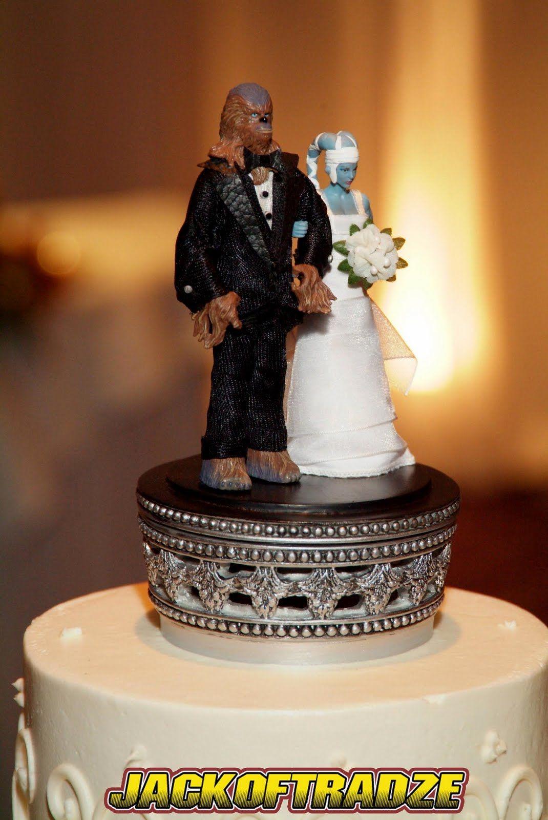 wedding ring cake topper Star Wars cake topper haha Amanda Snelson Bordine