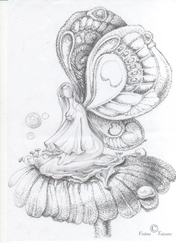 Pencil sketches fairies we made artworks and sketches by order on etsy 20 20