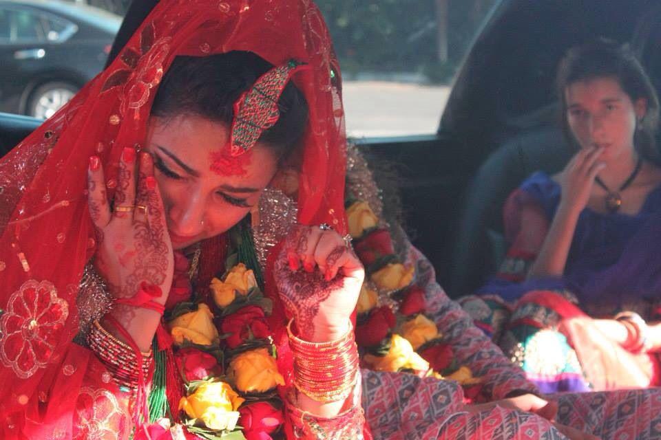 Moment wedding tears nepali bride wedding nepal