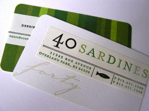 420 Creative Business Card Design Inspiration Designer Sandbox Letterpress Business Card Design Business Card Inspiration Restaurant Business Cards