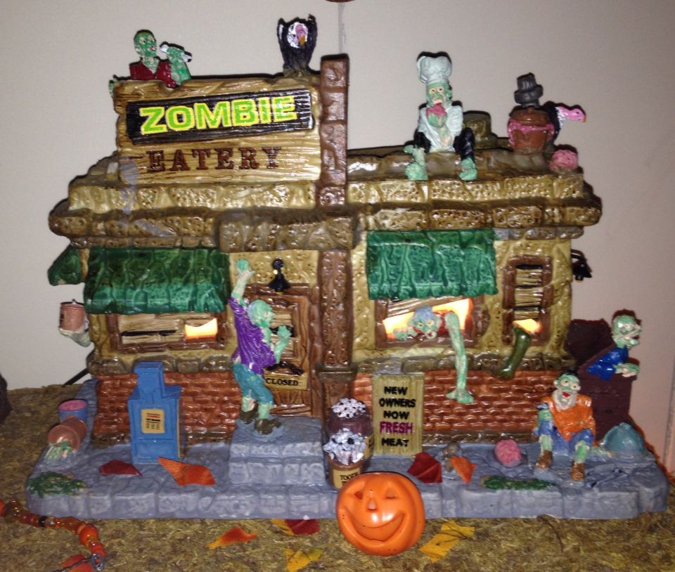 The newest addition to my Halloween Village is The Zombie Eatery we - halloween michaels