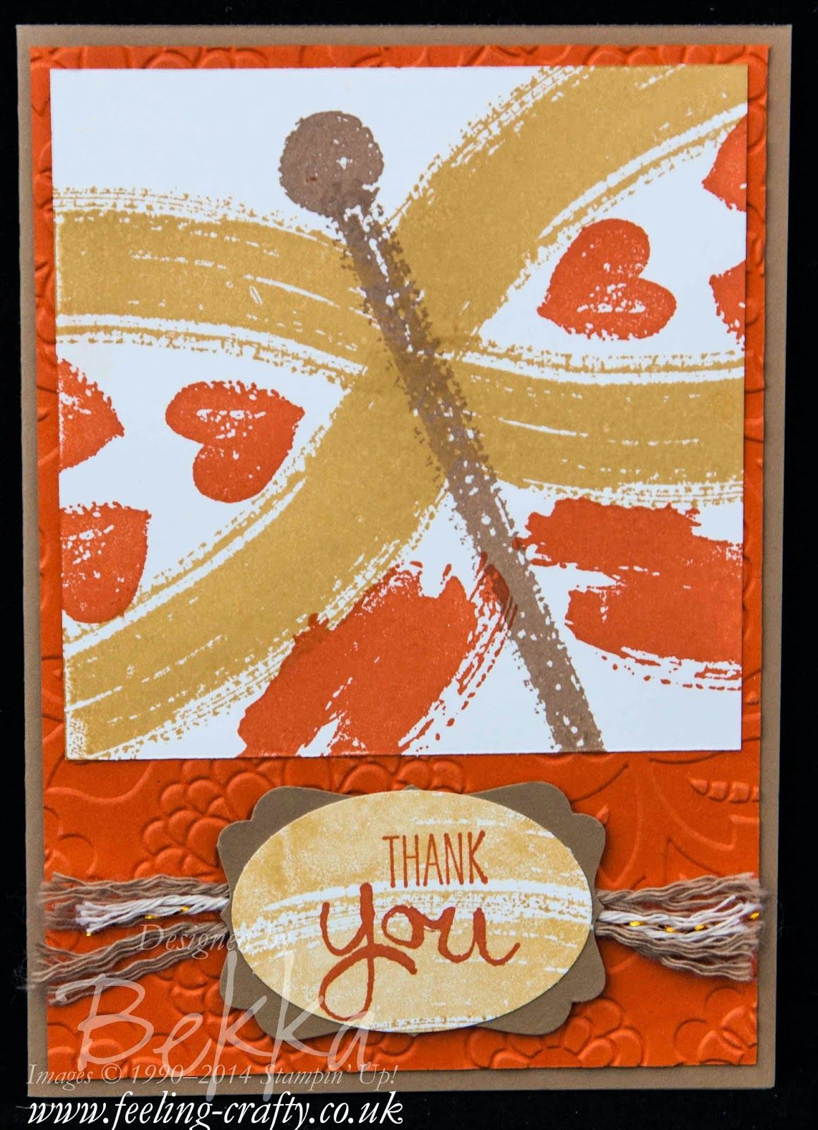 Work of Art Butterfly by Stampin' Up! UK Independent Demonstrator Bekka Prideaux - check her blog for lots of ideas with this stamp set and ...