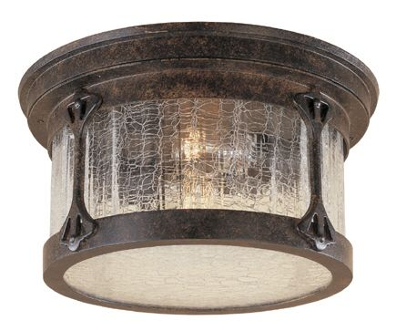 Canyon Lake Exterior Flush Ceiling Light