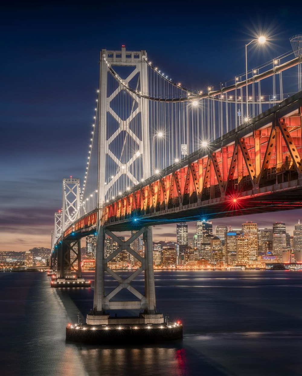 Bay Bridge San Francisco California By Michael Sidofsky Mindz Eye On Instagram San Francisco At Night Bay Bridge San Francisco Bay Bridge