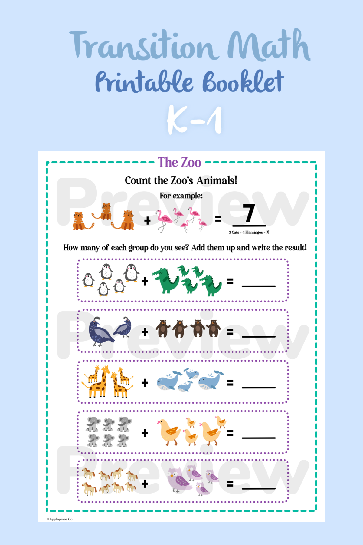 Do You Know The Zoo Transition Math Printable Worksheets