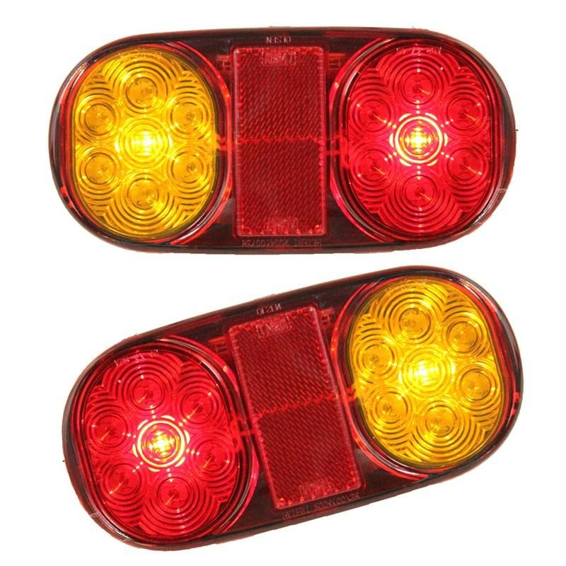 2x Car Truck Tail Light Warning Lights Rear Lamps Waterproof ...