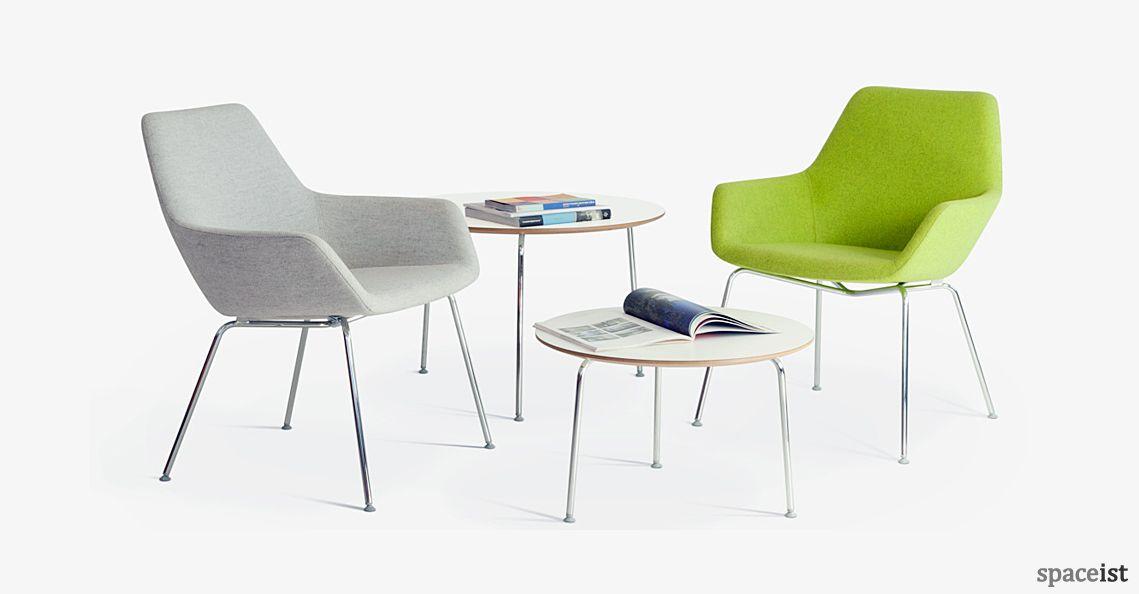 Charming 86 High Green Reception Chair