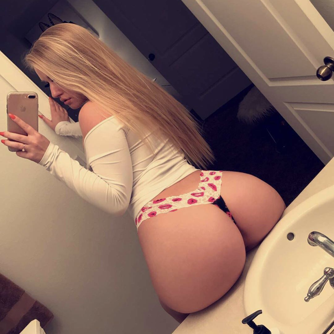 Big blonde ass