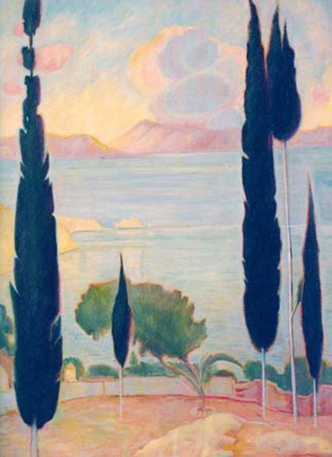 Έλληνες Ζωγράφοι - Τοπία     Κωνσταντίνος Παρθένης   1878-1967   γεν. στην Αλεξάνδρεια       Εθνική Πινακοθήκη   http :// www . nationalg...