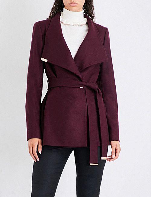 lace up in new high quality discount sale TED BAKER Keyla wool-blend coat | Kabátok és Bundák
