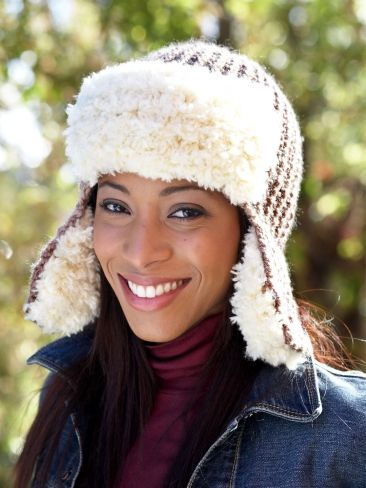 56ca1b52123c9 ... Knit with the bulky warmth of Patons Shetland Chunky and the cozy faux  fur softness of Patons Theo, you'll love showing off this hat all winter  long.