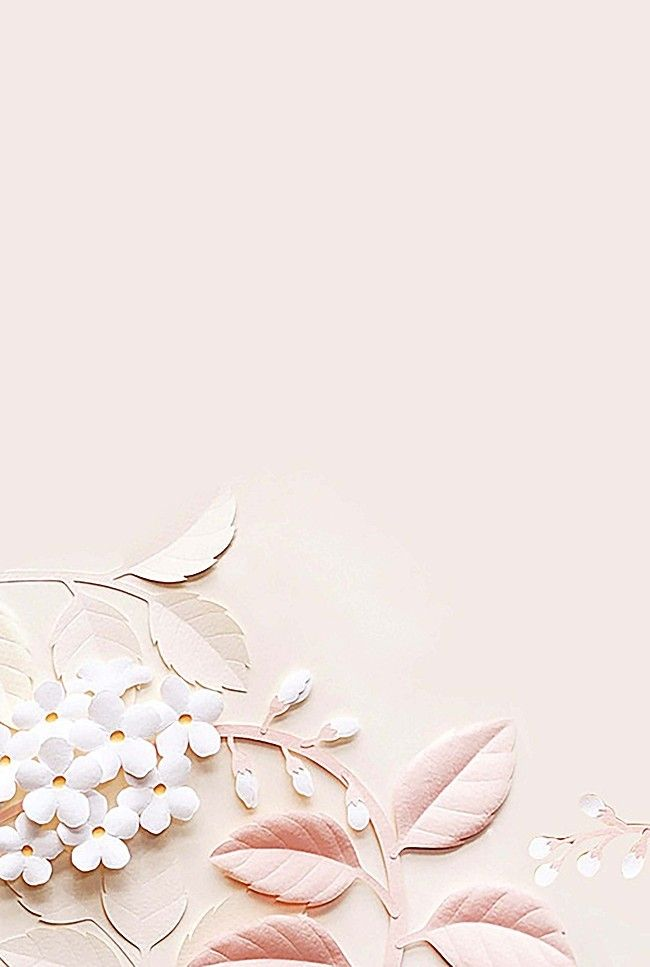 Simple Pink Flower Leaves Background