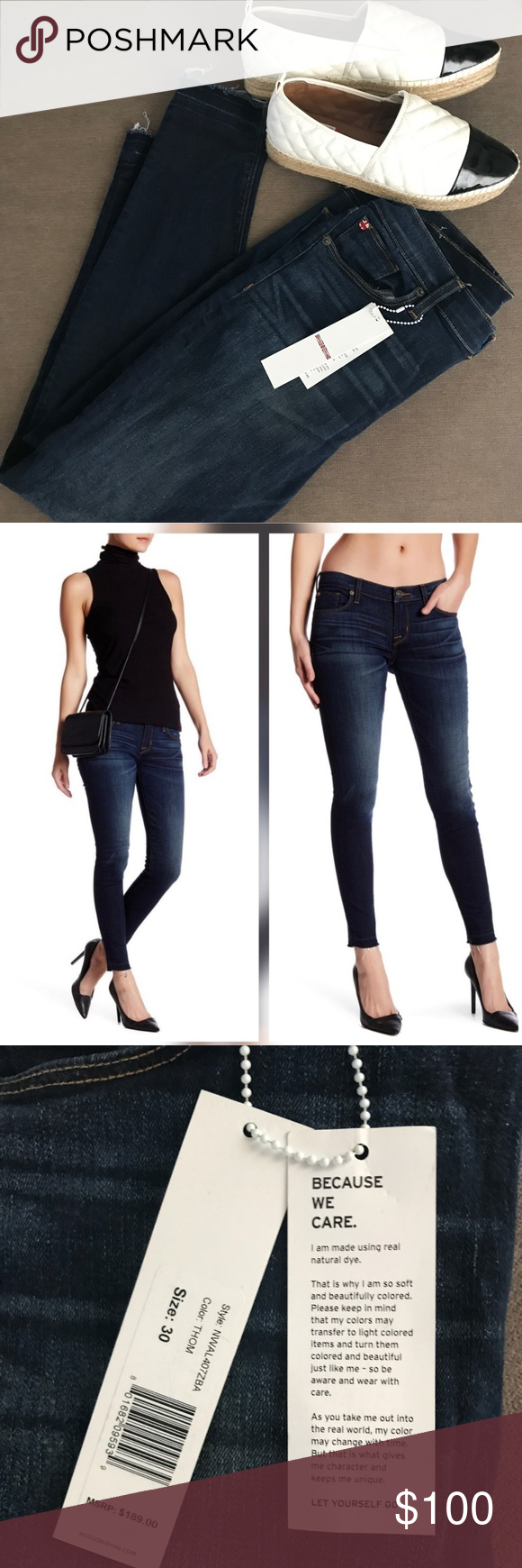 NWT Krista Ankle Skinny Jeans New Jeans! I bought off of here- they are so cute I just ordered the wrong size! Your win! Hudson Jeans Jeans