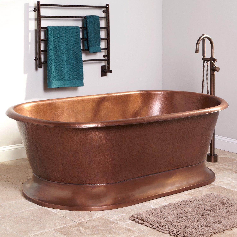 78 Quot Kelsey Hammered Copper Pedestal Tub Household
