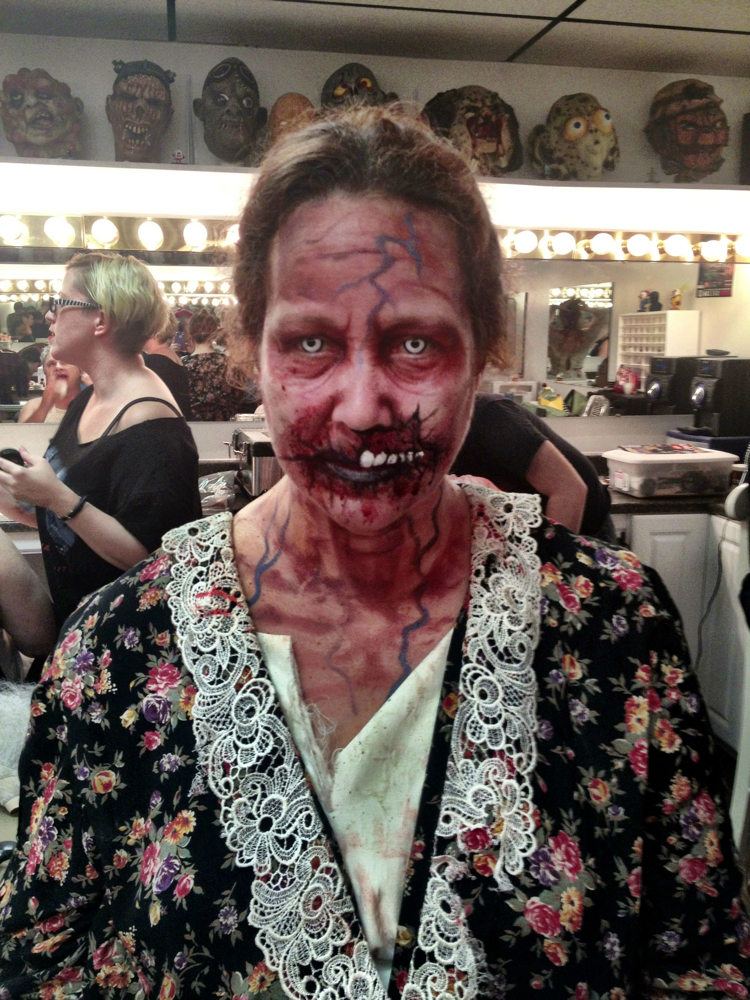 Zombie makeup. The Dent Schoolhouse Cincinnati Ohio | All Hallows ...