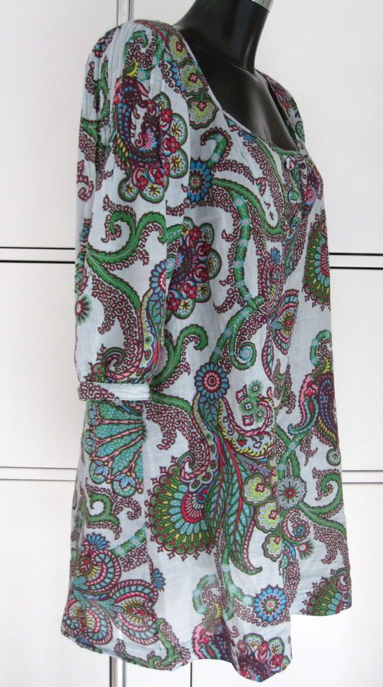 Marilyn Moore So Marilyn; Rococo floral tunic top on Italian cotton voile  UK16