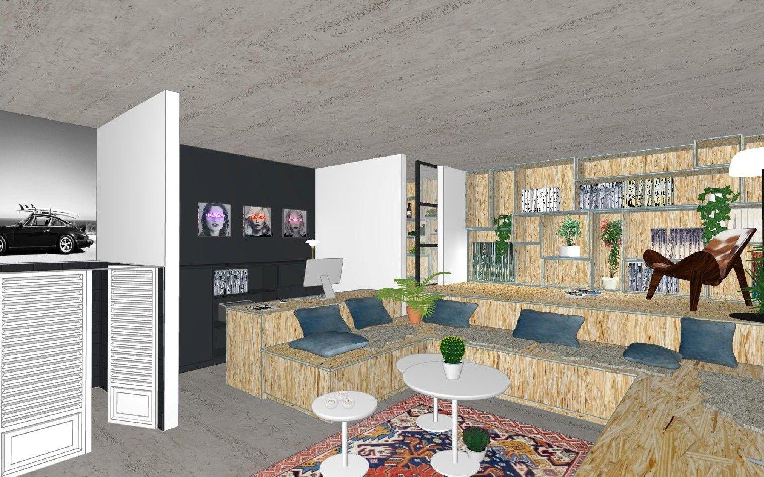 PAND binnenhuis > interieur > mancave > visualisatie   VISUALISATIE ...
