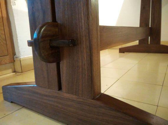 Trestle table by OrenWood on Etsy
