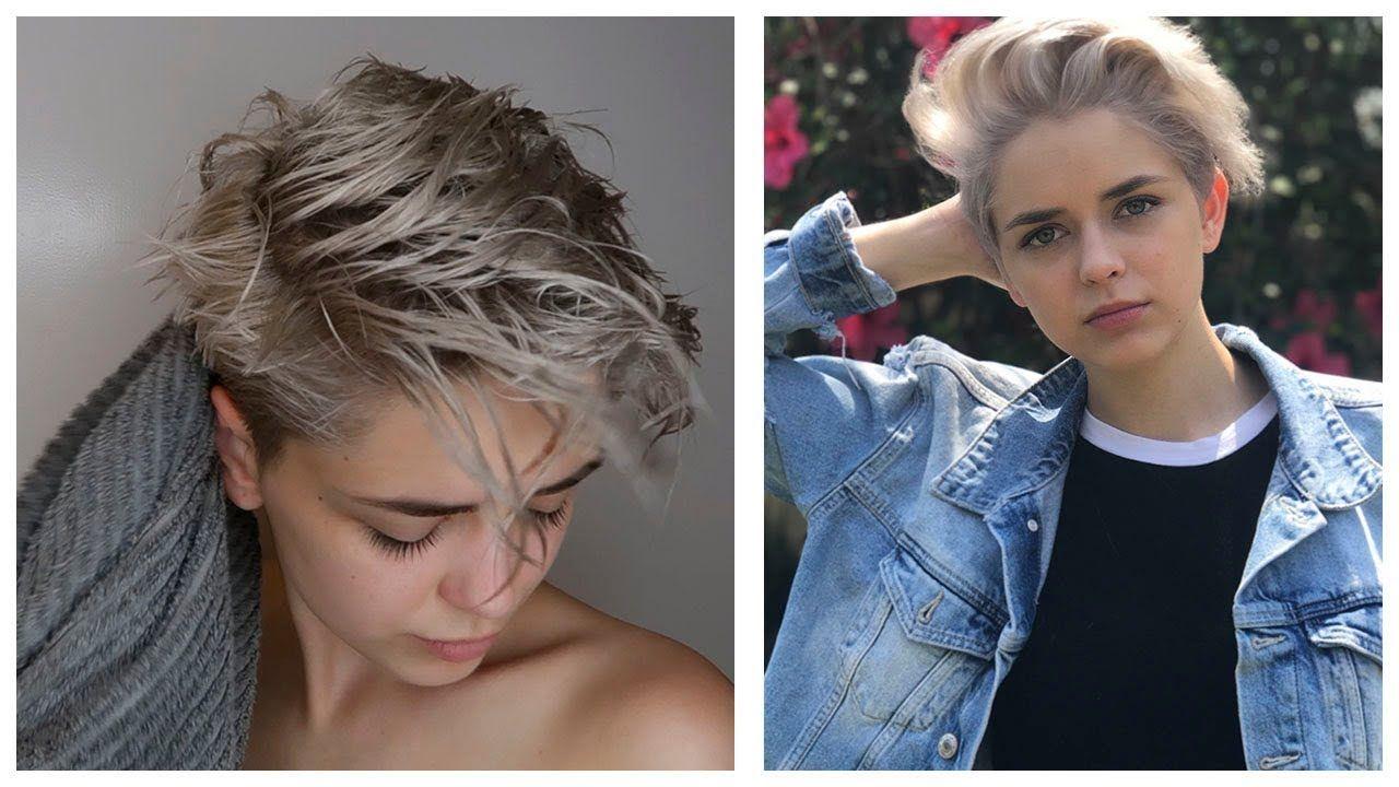 My Hair Routine Girls With Short Hair Youtube Pixie Cut Short