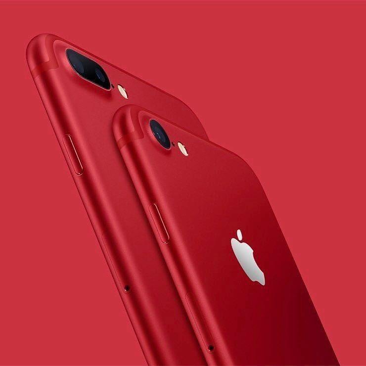 أبل تعلن عن آيفون عادي وبلس باللون الأحمر إبداع Iphone 7 Plus Red Iphone Iphone 7