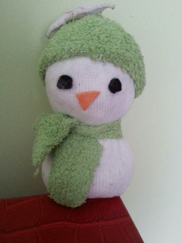 Muñeco de nieve con calcetín 1