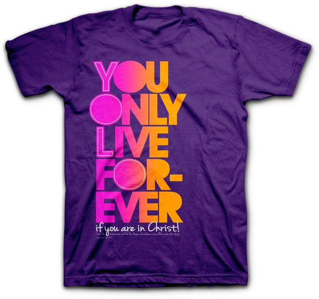 The YOLF tshirt stands for You Only Live Forever and