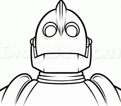How To Draw Iron Giant Sketch Template The Iron Giant Iron