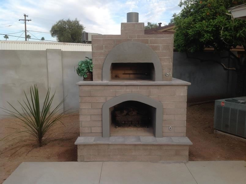 Brick Pizza Oven U0026 Outdoor Fireplace: Phoenix | Desert Crest LLC  Outdoor Fireplace And Pizza Oven