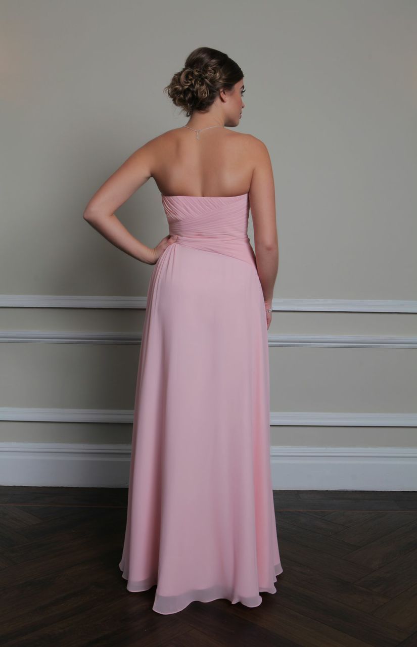Gallina this floor length strapless chiffon gown has a stunning the floor length strapless gallina bridesmaid dress is made from flowing chiffon with a pretty sweetheart neckline and pleating across the bodice ombrellifo Gallery