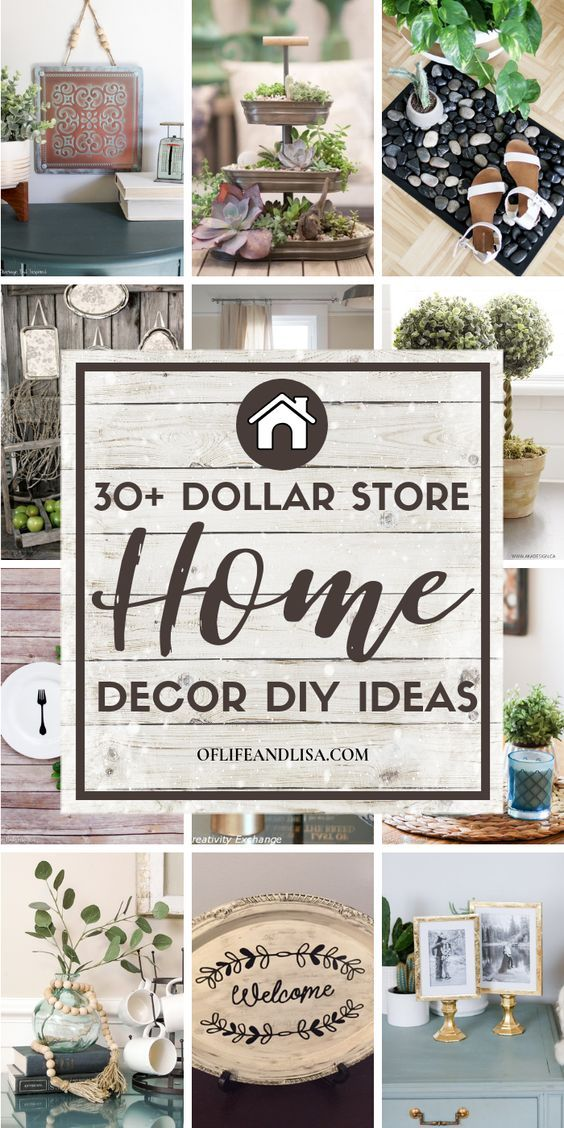 Photo of 30+ Brilliant DIY Dollar Store Home Decorating Ideas | Of Life + Lisa