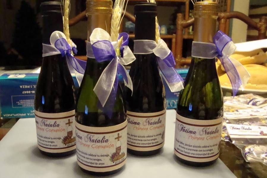 Botellas De Vino Decoradas Para Primera Comunion.Decoracion De Botellas Para Primera Comunion 2 Botellas