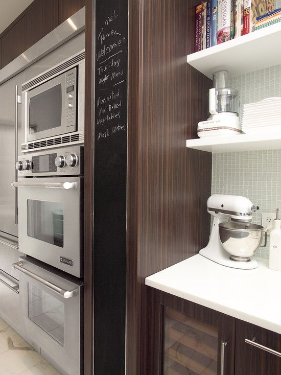 How Tall Is This Microwave Galley Kitchen Design