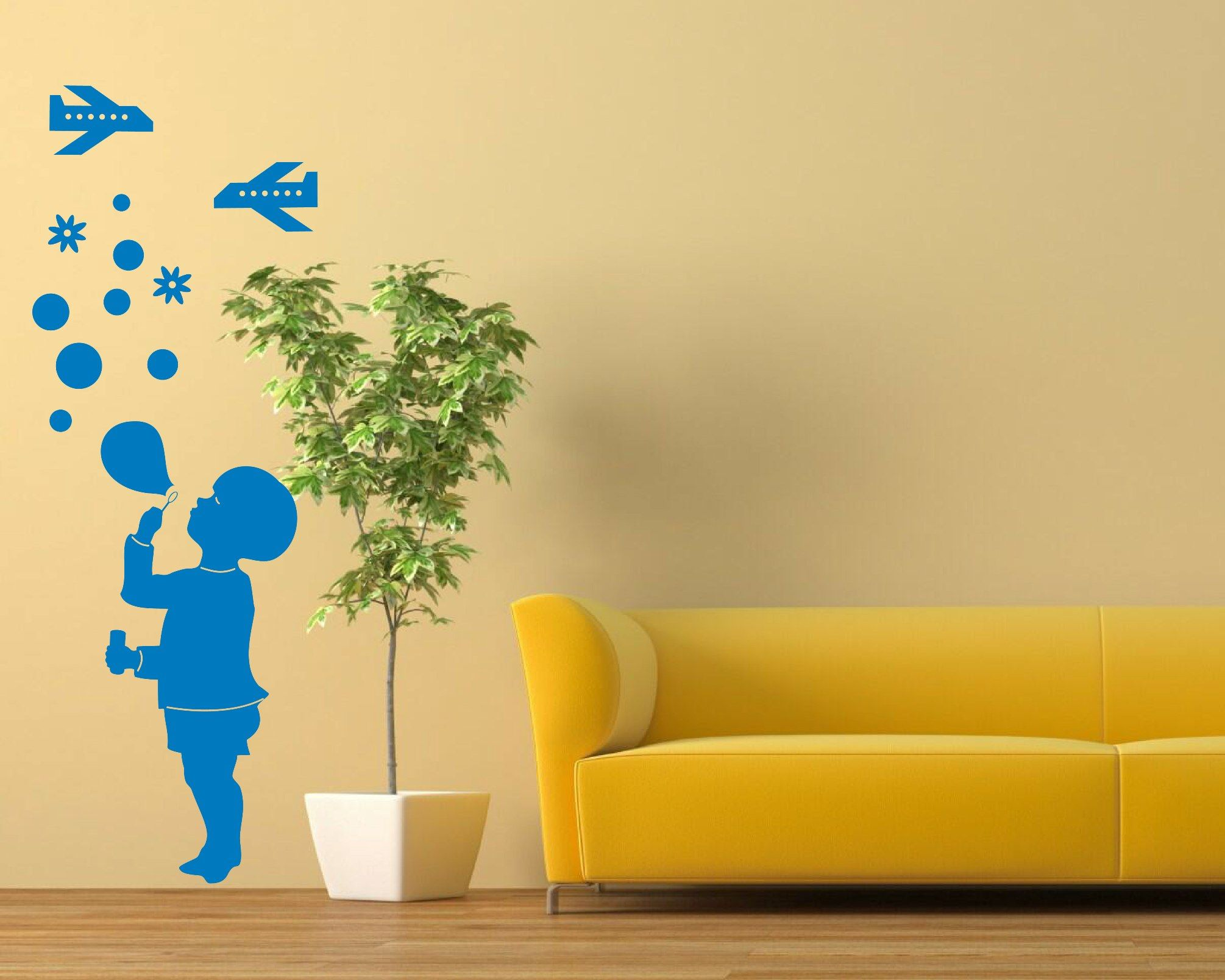 Wall decals for kids. Little boy. Blue color | Wall Decal Australia ...