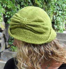 41a351de01b Cloche Divine - Free Knitting Patterns by Meghan Jones - I made this and it  is adorable!!