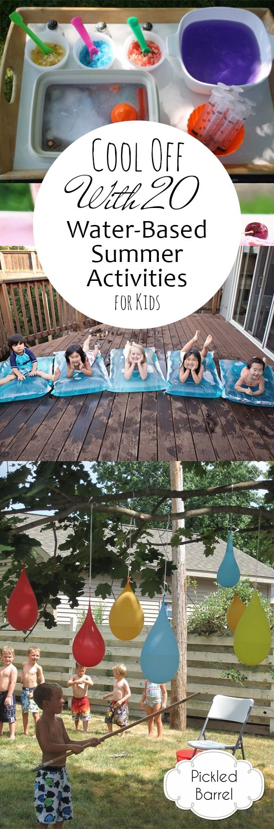 Cool Off With 20 Water-Based Summer Activities for Kids #summerfunideasforkids