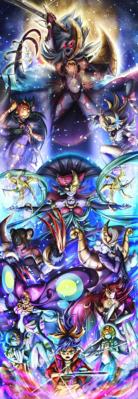 遊戯王ARCV 月華 あまのくんのイラスト Arte de anime, Yugioh, Yugi