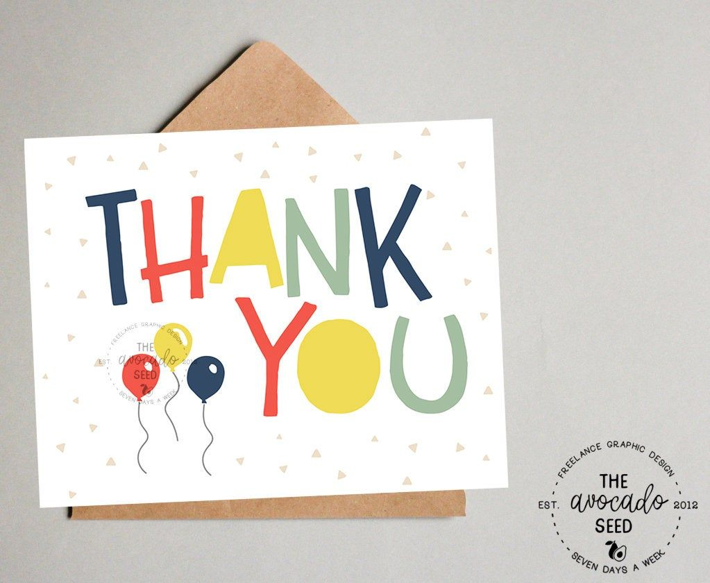 Abc 123 thank you card instant download if wanting