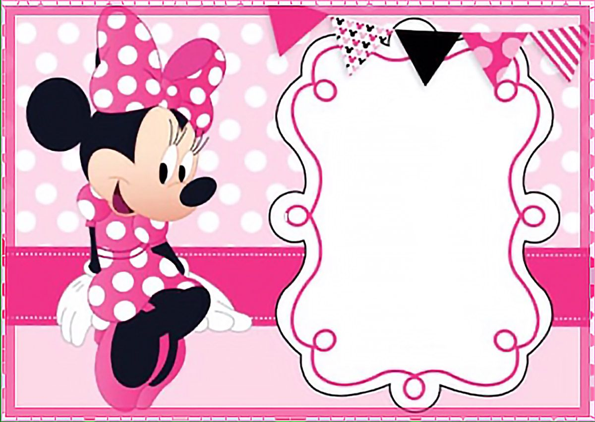 Printable Minnie Mouse Birthday Party Invitation Template - Free