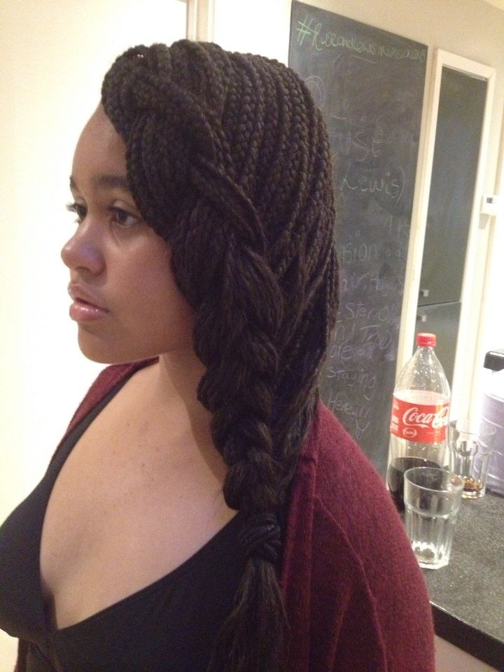 French Side Braid With Single Braid Extensions Really Easy Just