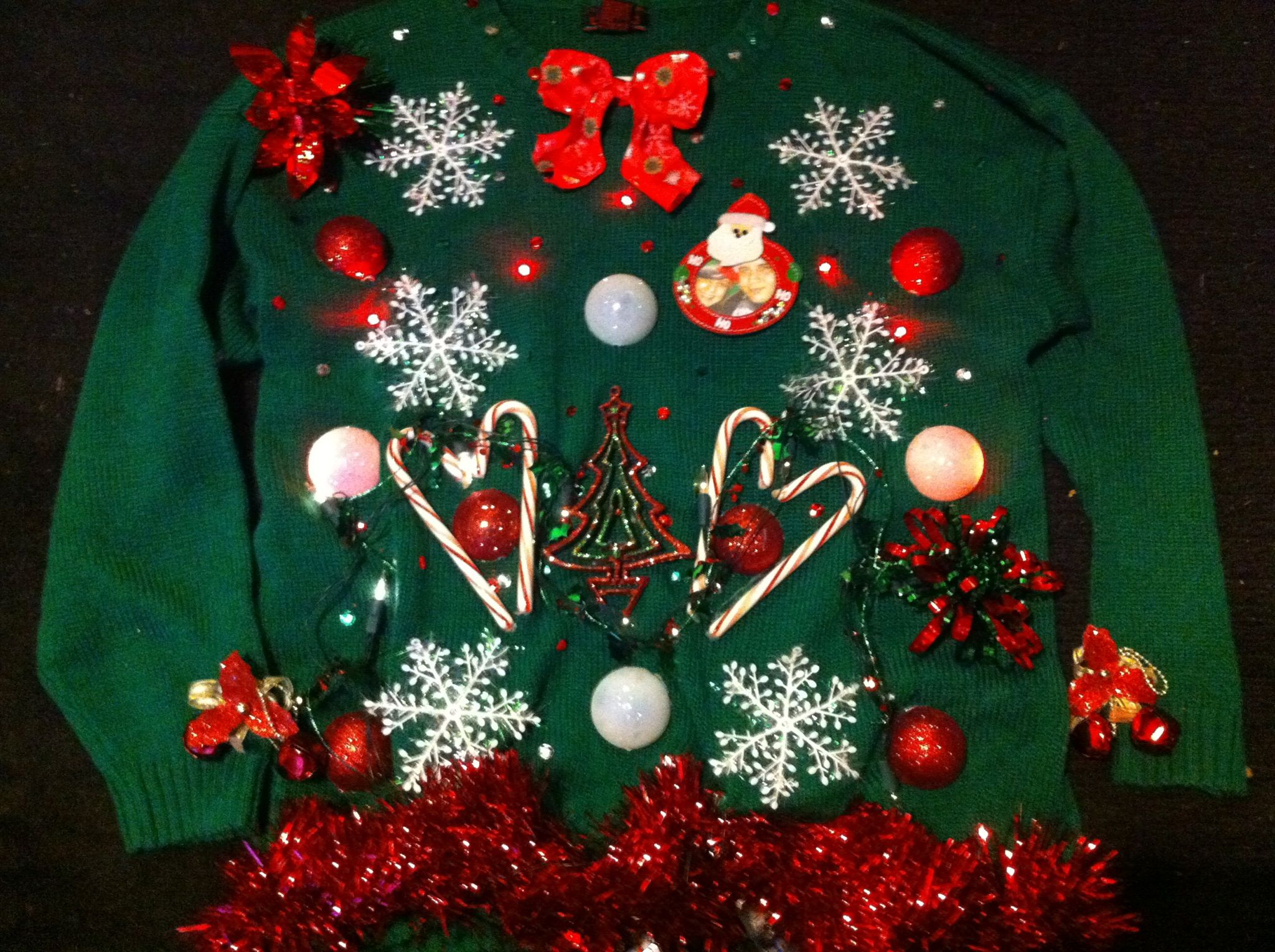 DIY UGLY CHRISTMAS SWEATER. All Items Were Bought At A