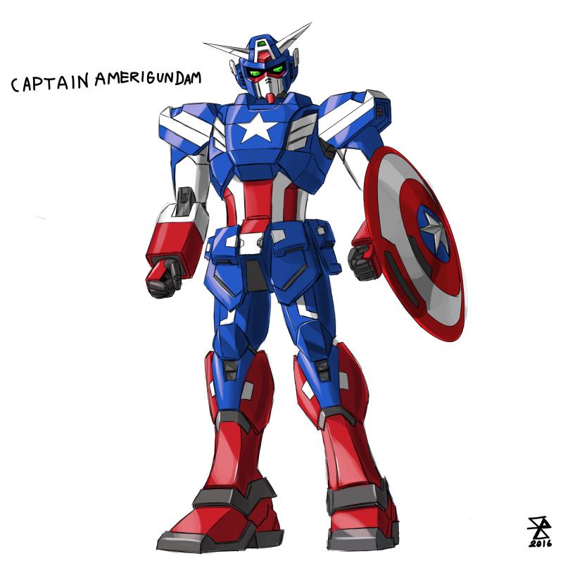 gundam captain amerigundam by