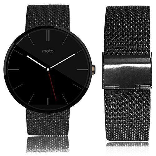 Biaoge Stainless Steel Metal Watchband Steel Smart Watch Bracelet Metal Watchband Collection Fit For Motorola Moto 360 Smartwatch (Grid Black) Biaoge http://www.amazon.com/dp/B00UWOYR4O/ref=cm_sw_r_pi_dp_iQZWvb13N29NF